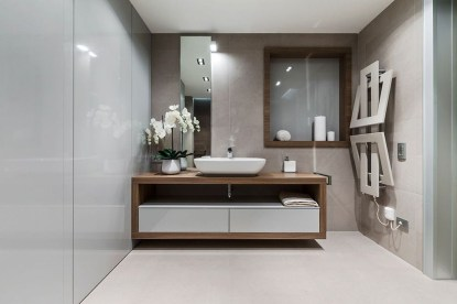 Functionally Decorated Contemporary Powder Rooms10