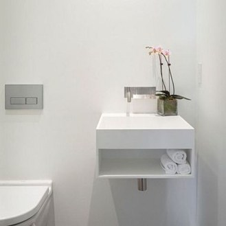 Functionally Decorated Contemporary Powder Rooms18