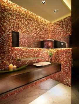 Functionally Decorated Contemporary Powder Rooms21
