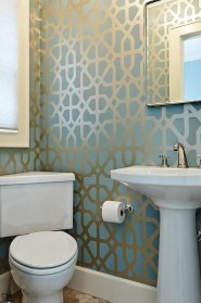 Functionally Decorated Contemporary Powder Rooms24
