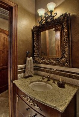 Functionally Decorated Contemporary Powder Rooms29