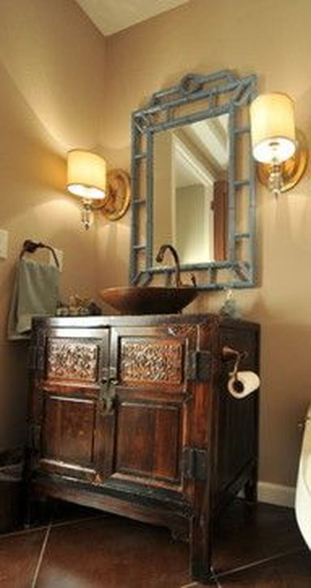 Functionally Decorated Contemporary Powder Rooms35