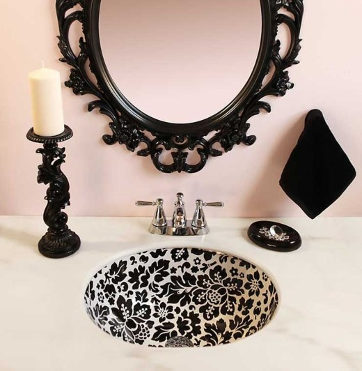 Functionally Decorated Contemporary Powder Rooms41
