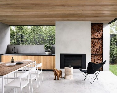 Relaxing Outdoor Fireplace Designs For Your Garden01