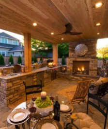 Relaxing Outdoor Fireplace Designs For Your Garden04