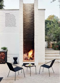 Relaxing Outdoor Fireplace Designs For Your Garden05