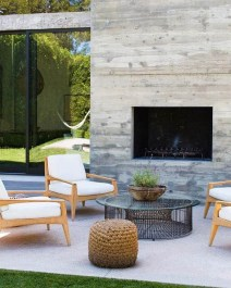 Relaxing Outdoor Fireplace Designs For Your Garden07