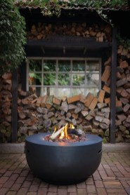 Relaxing Outdoor Fireplace Designs For Your Garden16