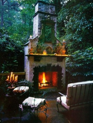 Relaxing Outdoor Fireplace Designs For Your Garden17