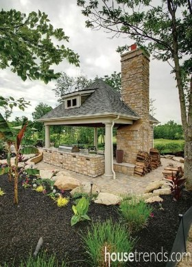Relaxing Outdoor Fireplace Designs For Your Garden25