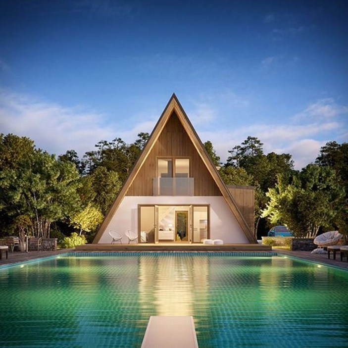 Unforgettable Designs Of A Frame Houses24