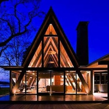 Unforgettable Designs Of A Frame Houses25