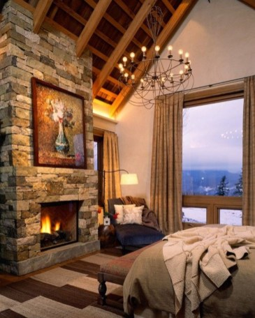 Cozy Rustic Bedroom Interior Designs For This Winter44