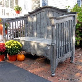 Inspirational Ways How To Repurpose Old Babys Cribs04