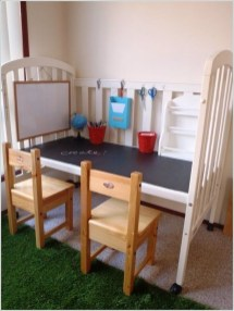 Inspirational Ways How To Repurpose Old Babys Cribs13