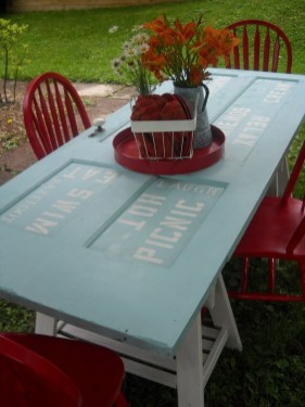 Simple And Creative Ideas Of How To Reuse Old Doors25
