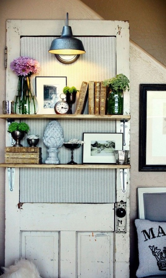 Simple And Creative Ideas Of How To Reuse Old Doors46
