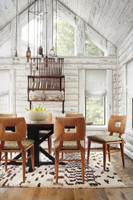 Warm Cozy Rustic Dining Room Designs For Your Cabin16