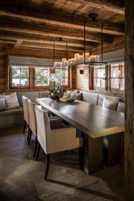 Warm Cozy Rustic Dining Room Designs For Your Cabin17