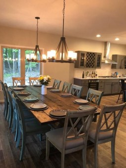 Warm Cozy Rustic Dining Room Designs For Your Cabin24