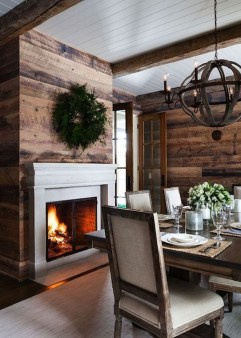Warm Cozy Rustic Dining Room Designs For Your Cabin25