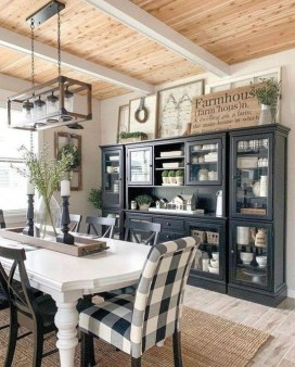 Warm Cozy Rustic Dining Room Designs For Your Cabin26