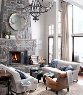 Warm Rustic Family Room Designs For The Winter06