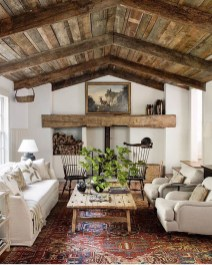 Warm Rustic Family Room Designs For The Winter14