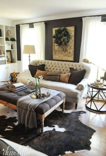 Warm Rustic Family Room Designs For The Winter21