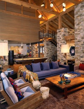 Warm Rustic Family Room Designs For The Winter27