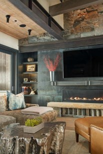 Warm Rustic Family Room Designs For The Winter30