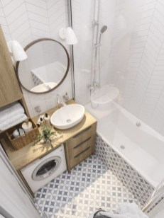 Amazing Small Apartment Bathroom Decoration You Can Try05