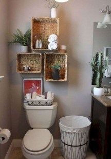 Amazing Small Apartment Bathroom Decoration You Can Try12
