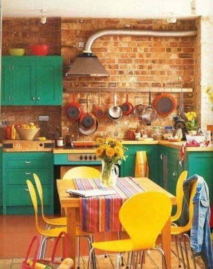 Beautifful And Cozy Colourfull Kithcen Ideas35