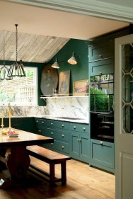 Beautiful And Cozy Green Kitchen Ideas01