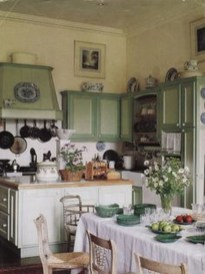 Beautiful And Cozy Green Kitchen Ideas19