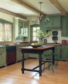 Beautiful And Cozy Green Kitchen Ideas21