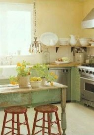 Beautiful And Cozy Green Kitchen Ideas22