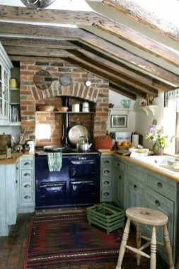 Beautiful And Cozy Green Kitchen Ideas27