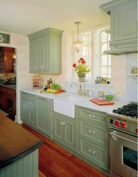 Beautiful And Cozy Green Kitchen Ideas36