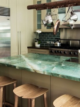 Beautiful And Cozy Green Kitchen Ideas43