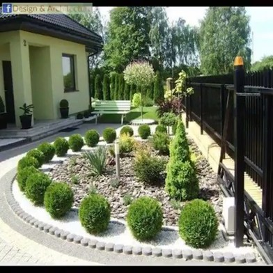 Beautiful Simple Front Yard Landscaping Design Ideas33