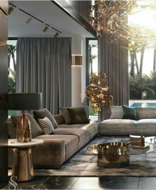 Extraordinary Luxury Living Room Ideas Which Abound With Glamour And Refinement15