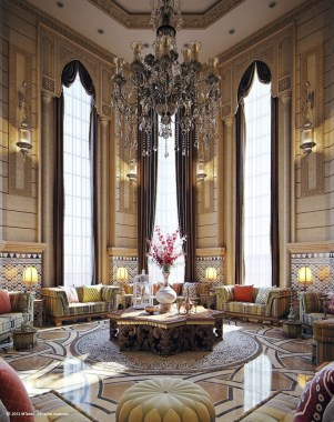 Luxury And Elegant Living Room Design07