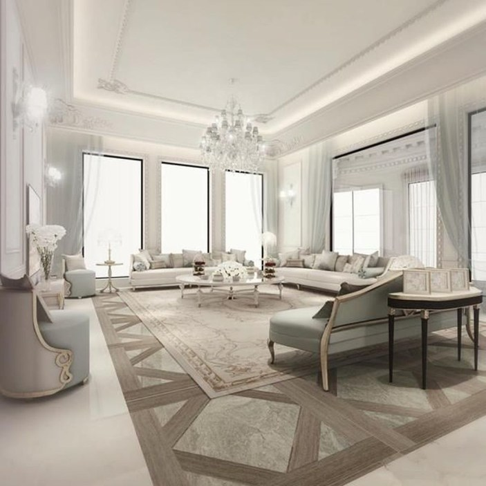 Luxury And Elegant Living Room Design22