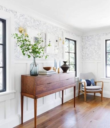 Modern Wallpaper Decoration For Living Room Ideas38