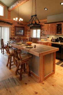 Warm Cozy Rustic Kitchen Designs For Your Cabin03