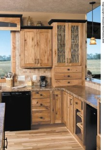 Warm Cozy Rustic Kitchen Designs For Your Cabin04