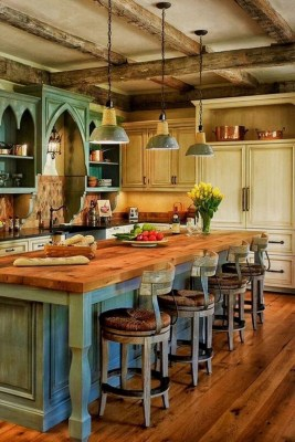 Warm Cozy Rustic Kitchen Designs For Your Cabin08