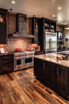 Warm Cozy Rustic Kitchen Designs For Your Cabin09